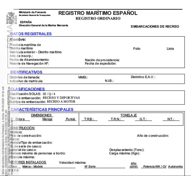 registro maritimo español